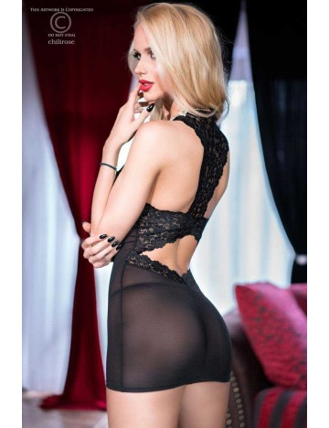 Robe Nuisette Noir Transparence Erotique Chilirose