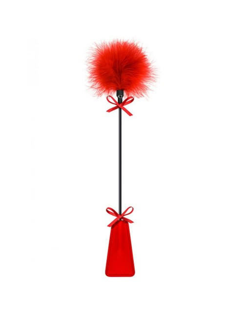 Cravache et plumeau rouge SWEET CARESS