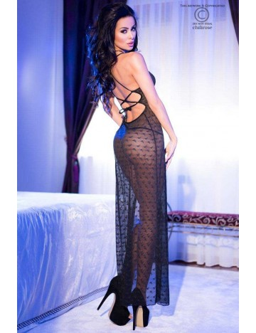 Robe Transparente Longue Broderie Chic Chilirose