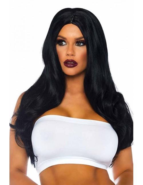 Perruque cheveux longs Noir Leg Avenue
