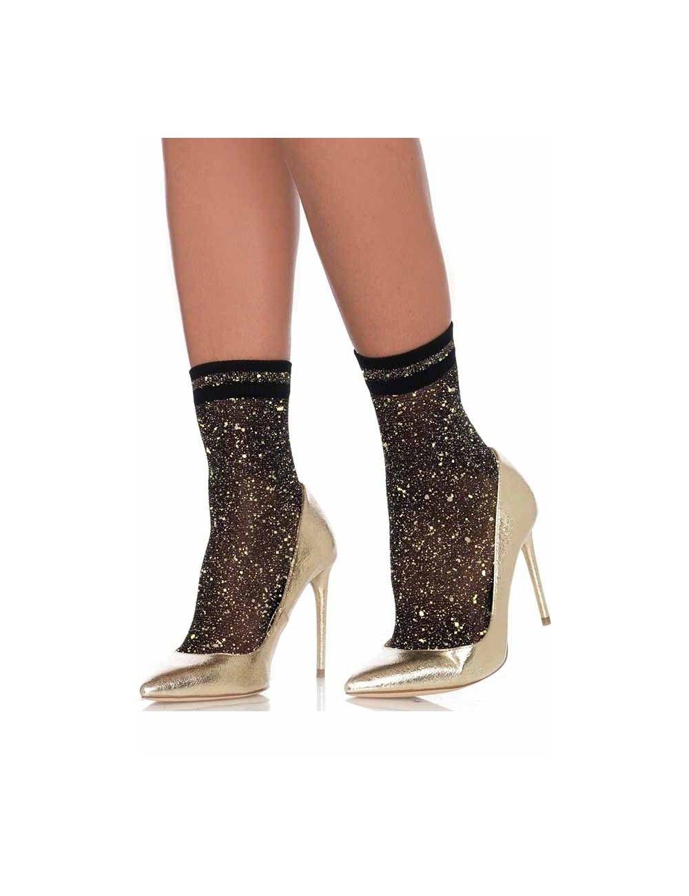 Soquettes festives et chic Gold LEG AVENUE