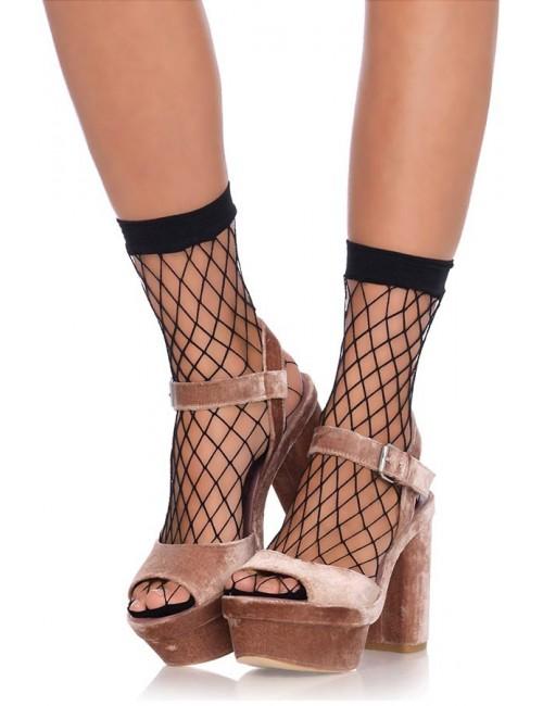 Soquettes résille noire moyenne LEG AVENUE