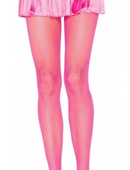 Collant fine résille néon rose LEG AVENUE