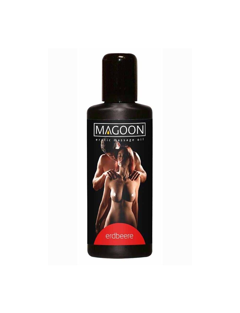 Huile de massage érotique Fraise MAGOON