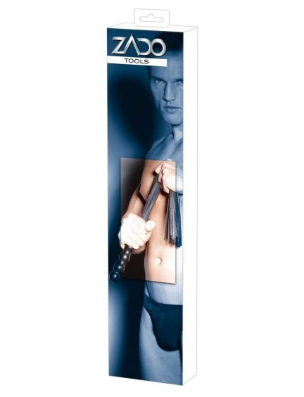 Fouet en Cuir Avec Bandelette 56 cm ZADO