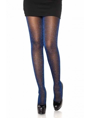 Collant lurex brillant bleu royal LEG AVENUE