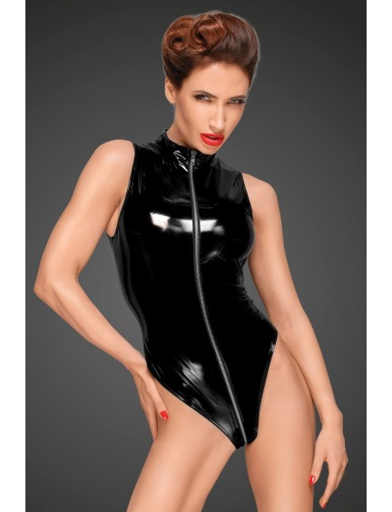 Body en Vinyle et Zip Intégral Noir Handmade