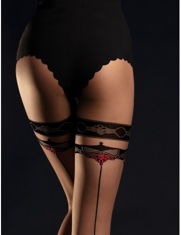 Collants nude et noir Taboo...