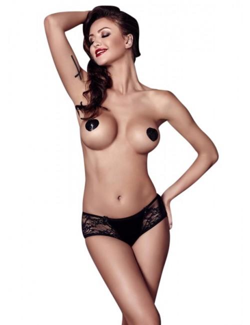 Panty culotte noir Carol Anais