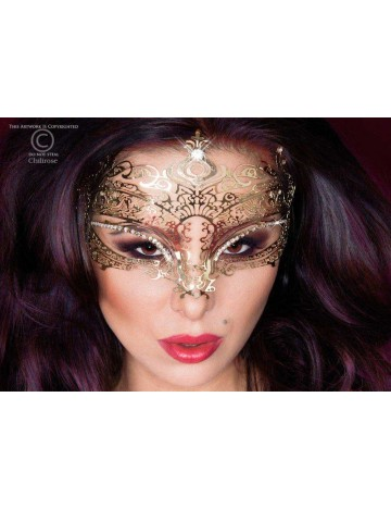 Masque Original en Métal Flexible Or et Strass Chilirose