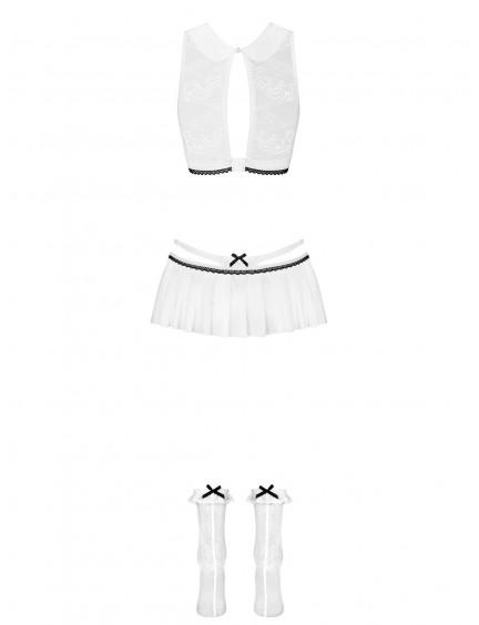 Costume étudiante blanc 3 pièces OBSESSIVE