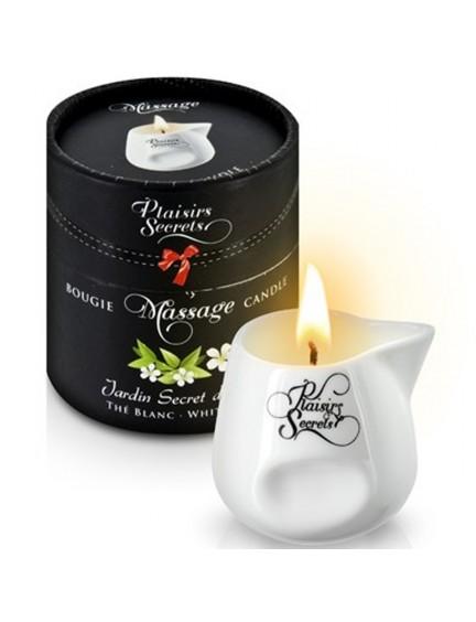 Bougie de massage thé blanc Plaisir Secret