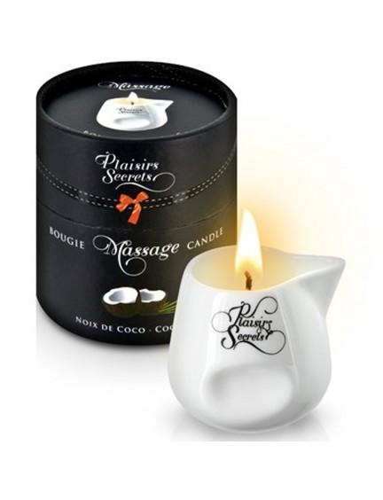 Bougie de massage noix de coco Plaisir Secret