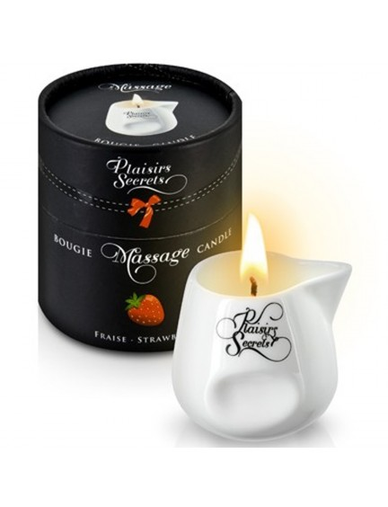 Bougie de massage gourmande fraise 80 ml