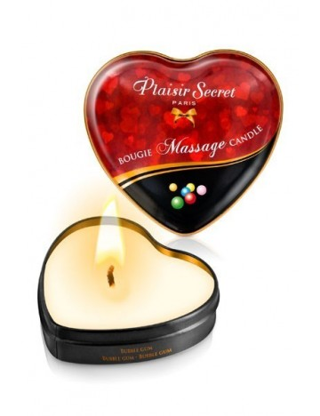 Bougie de massage coeur Bubble Gum PLAISIRS SECRETS