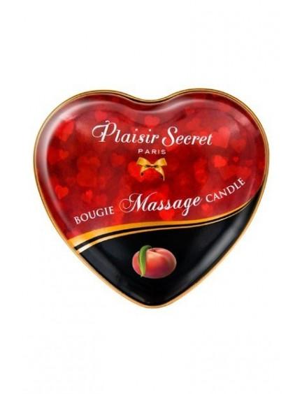 Bougie de massage coeur Pêche PLAISIRS SECRETS