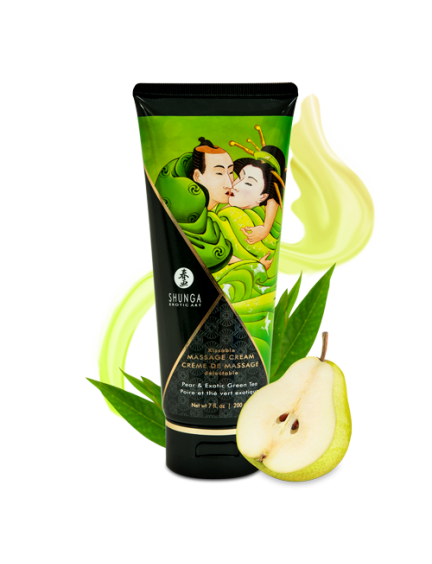 Crème de Massage Savoureuse Poire Thé vert Exotique Shunga
