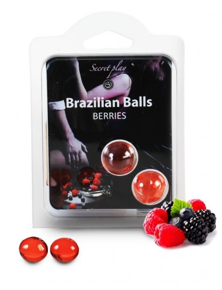 Boules X2 brésiliennes Fruits Rouges BRAZILIAN BALLS