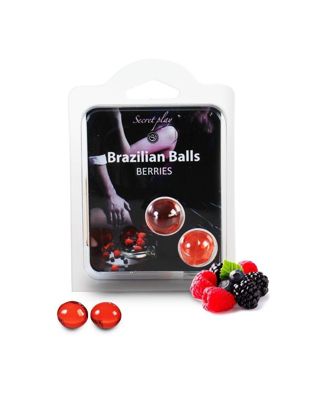 2 boules brésiliennes Fruits Rouges BRAZILIAN BALLS
