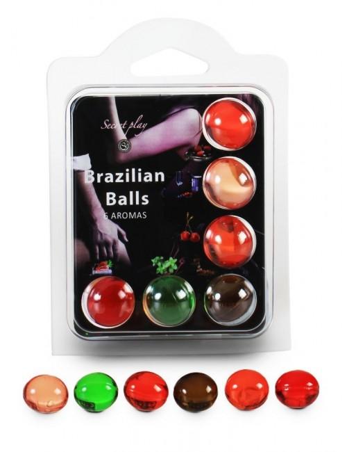 6 boules de massages divers parfums BRAZILIAN BALLS