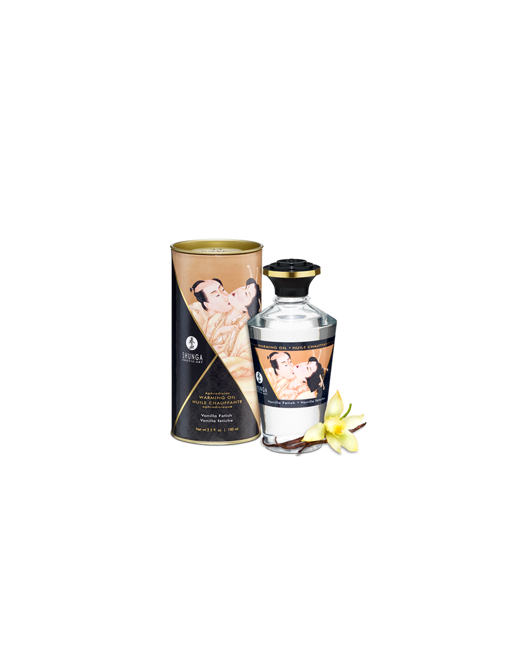 Huile aphrodisiaque chauffante Vanille Fétish 100 ml