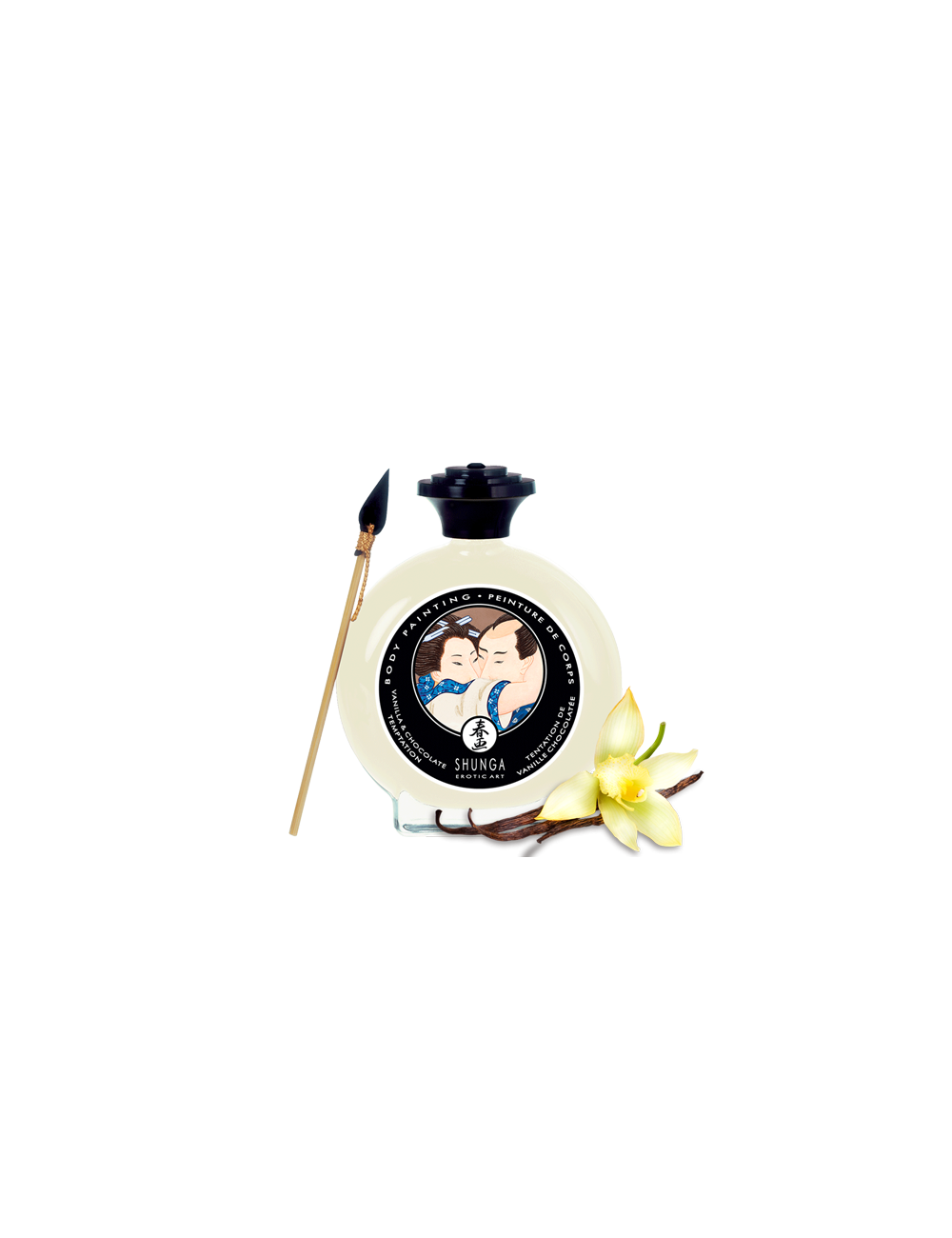 Peinture de corps embrassable chocolat blanc / vanille Shunga
