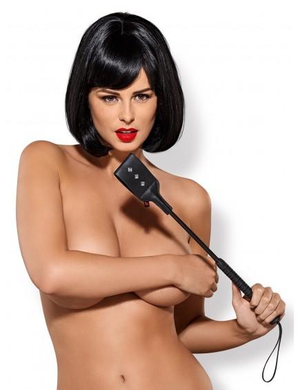 Tapette paddle noir Gretia Studded OBSESSIVE