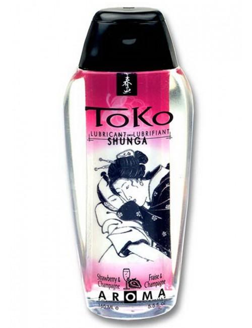 Lubrifiant Toko Aroma Vin Pétillant Fraise 165ml Shunga