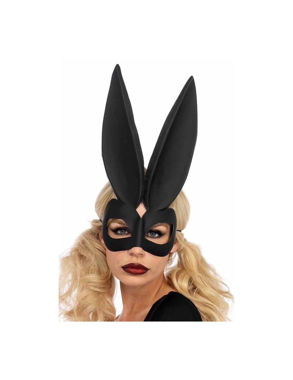 Masque noir mat lapin Bunny Leg Avenue