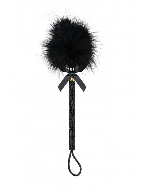 Plumeau noir avec plumes 43 cm Obsessive