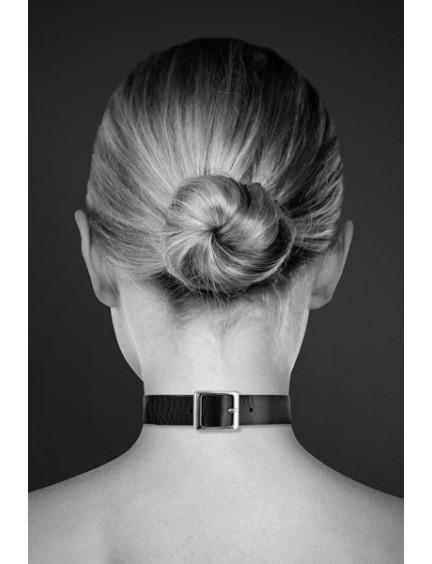 Collier Cuir Noir et Anneau Bijoux Pour Toi
