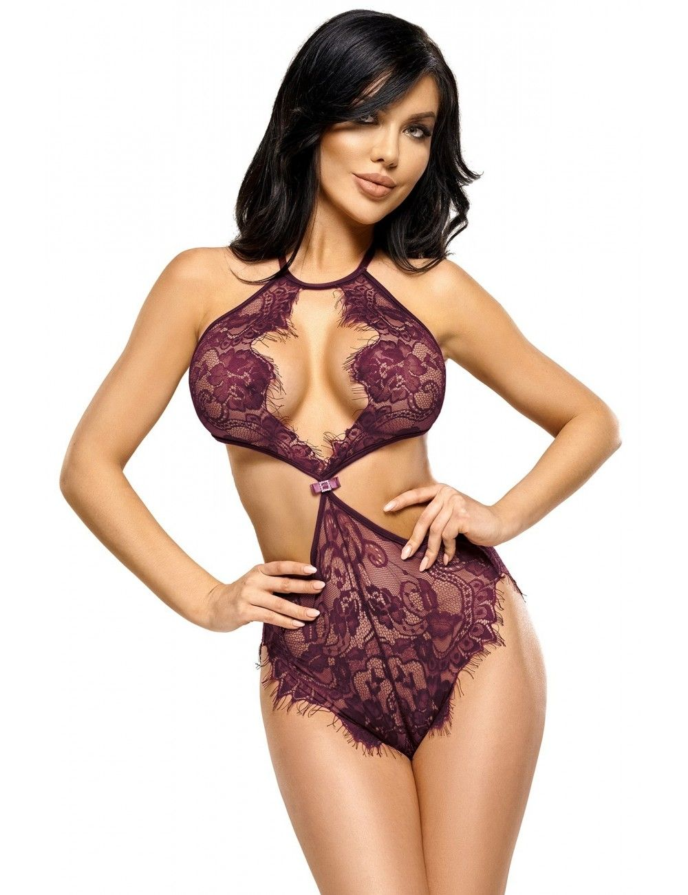 Body dentelle violette Jordana Beauty Night