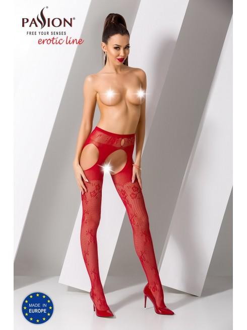 Collant jarretelles rouge Mélia Passion