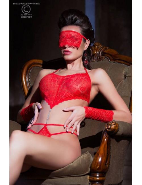 Body Erotique Rouge Accessoires et Strass Chilirose