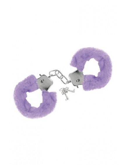 Menottes fourrure violette avec sécurité Sweet Caress