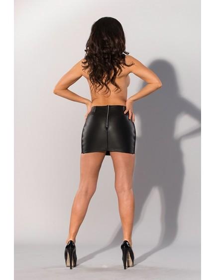 Mini-jupe Cuir Noir Guilty Pleasure