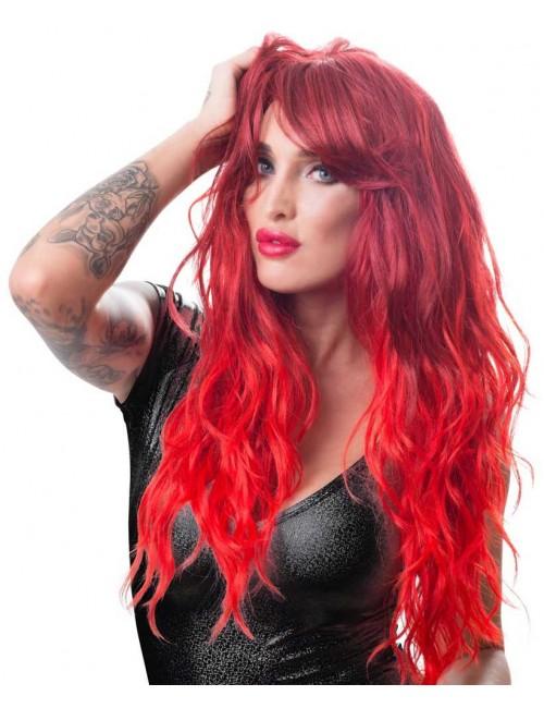 Perruque Cheveux Long Rouge Ondulée Look Fashion Cottelli