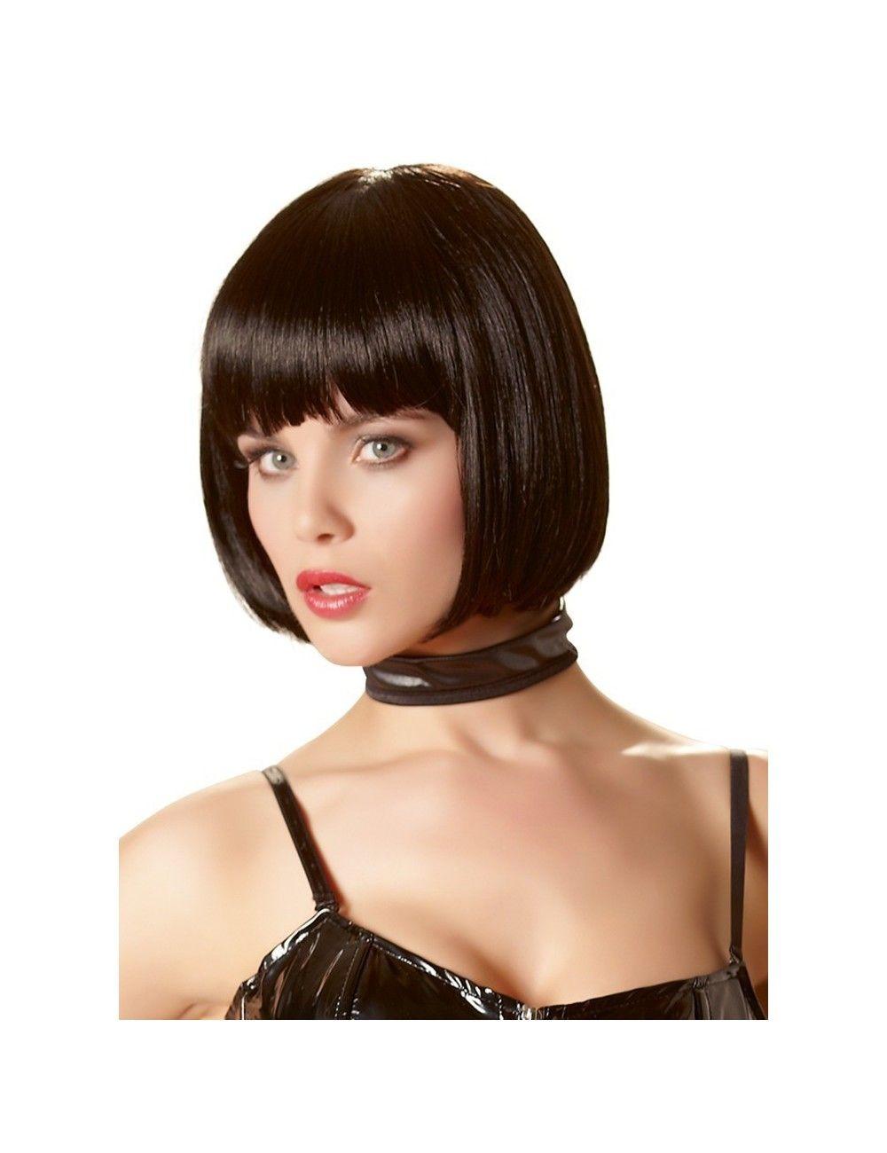 Perruque Cheveux Noir Avec Frange Cottelli
