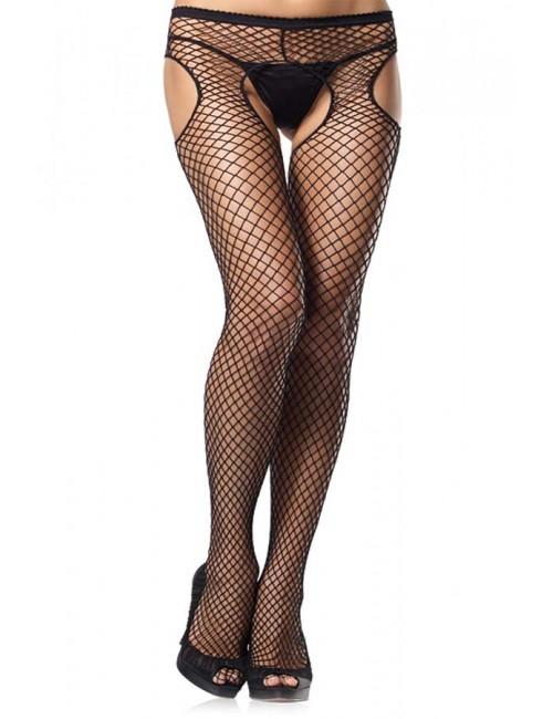 Collant Ouvert Résille Sexy Size LEG AVENUE