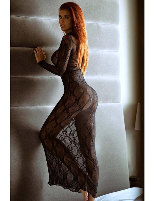 Robe Longue Transparente Délice LEG AVENUE