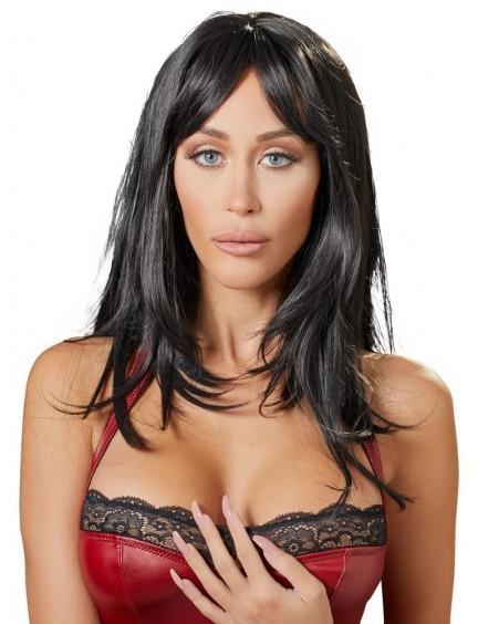 Perruque Longue Cheveux Noir Cottelli