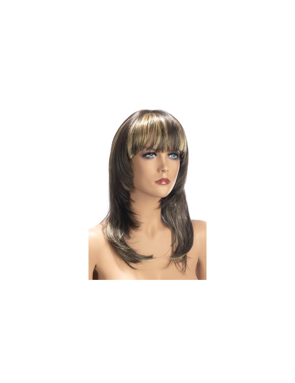 Perruque Brun Mèches Blondes Kate Worldwigs
