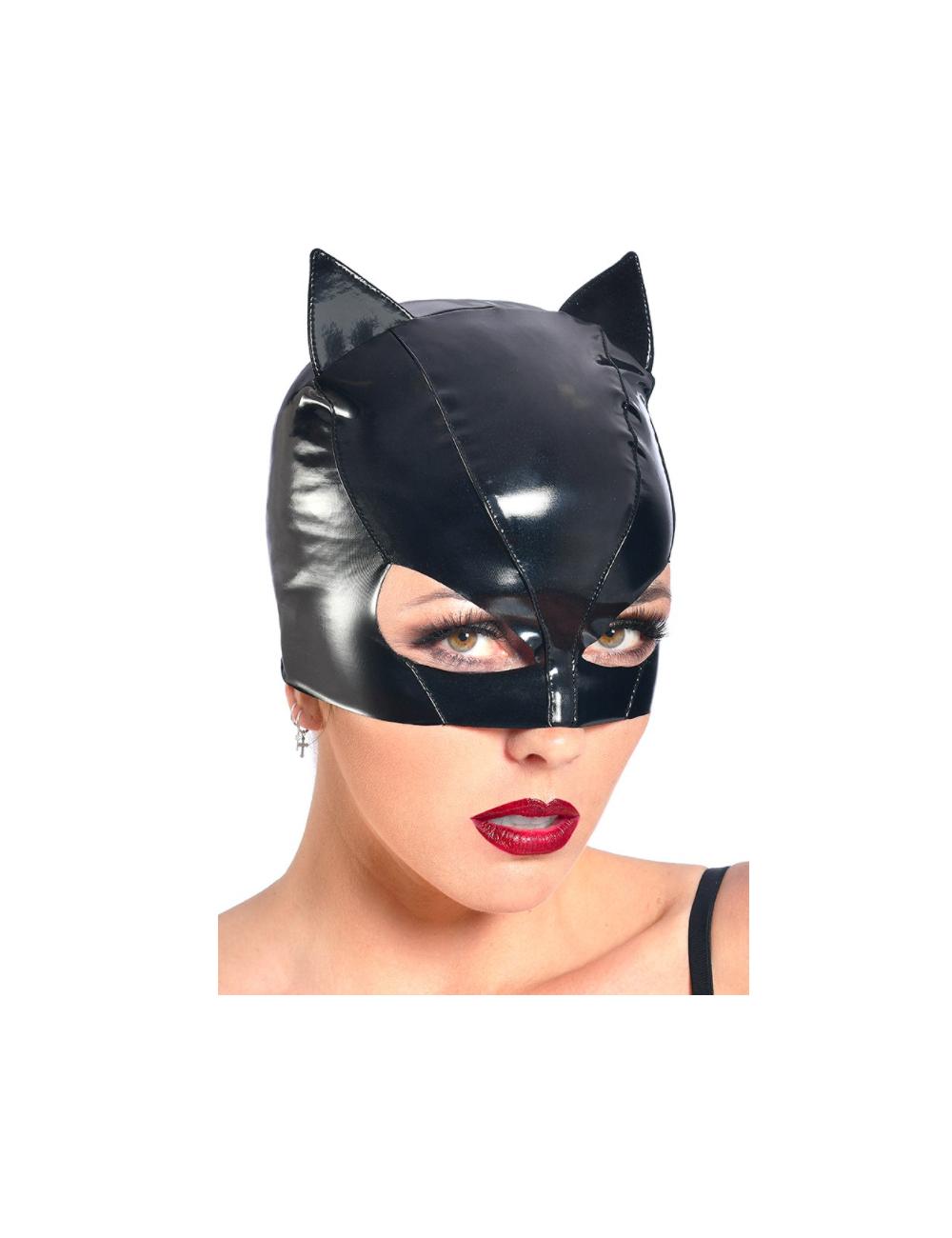 Masque Petit Chat Vinyle Noir PATRICE CATANZARO