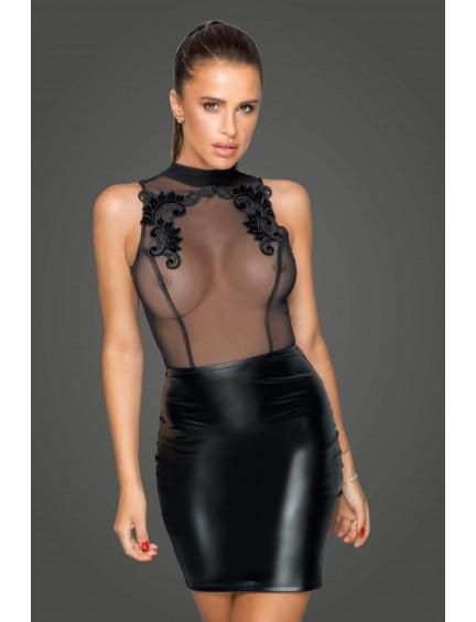 Robe Missbehaved Transparente Noir Handmade