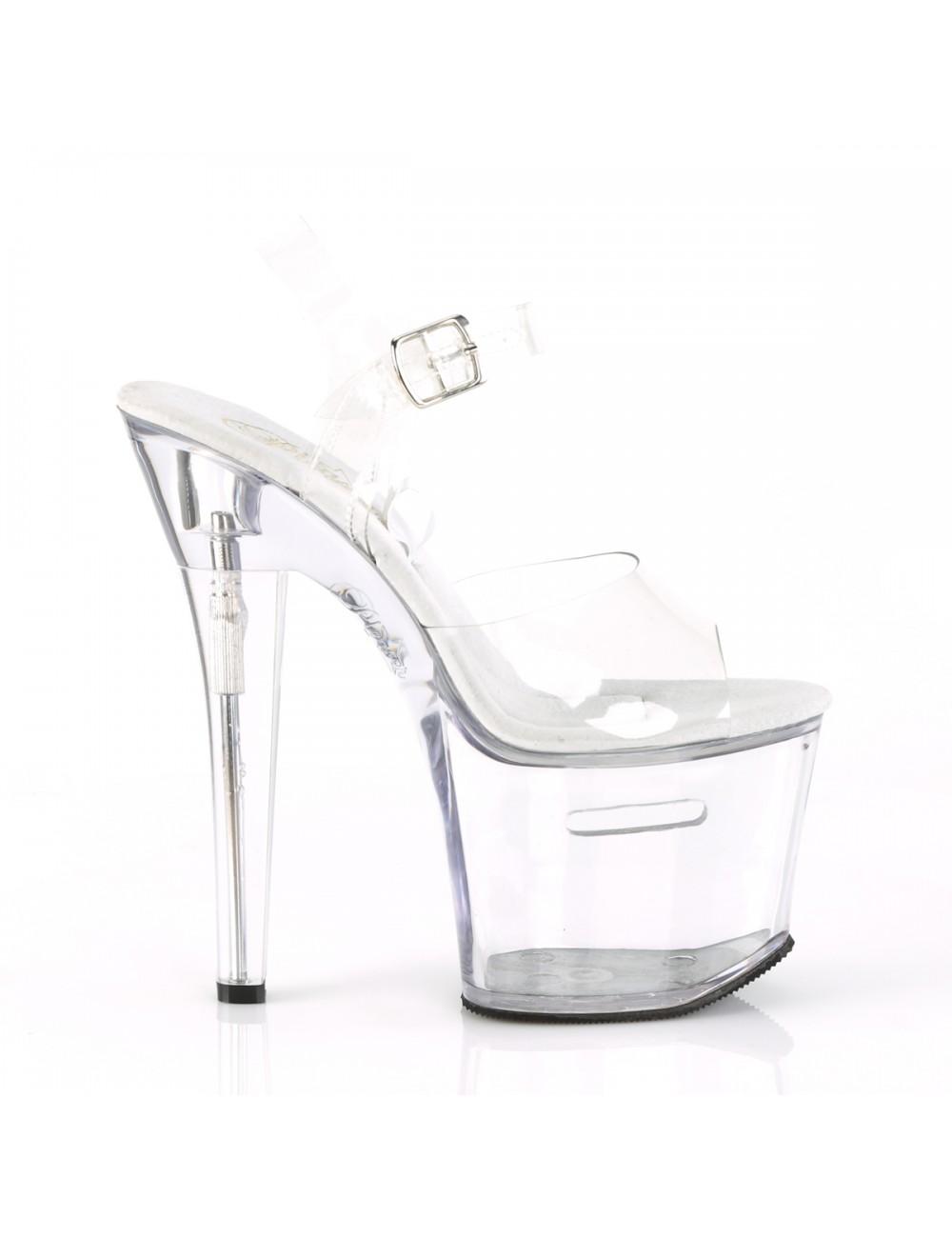 Sandales Plateforme Transparente Tipjar Pleaser