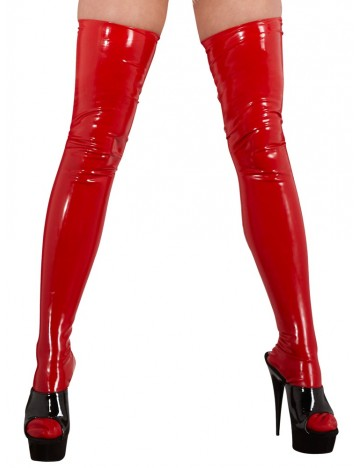 Bas en Latex Rouge Latex Collection