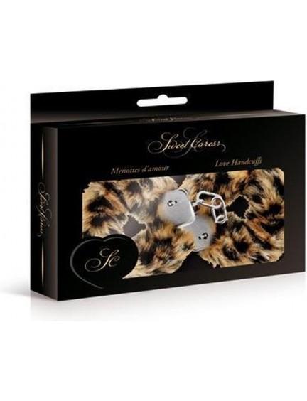 Menottes fourrure léopard avec sécurité Sweet Caress