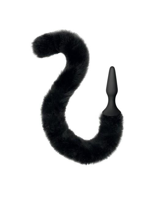 Plug queue de chat noir Sweet Caress