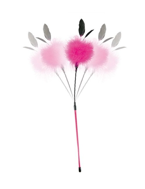 Plumeau caresses semi-rigide Rose Sweet Caress