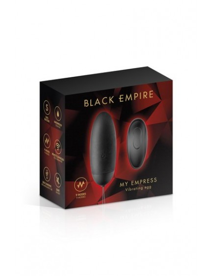 Oeuf vibrant rechargeable My Empress Black Empire